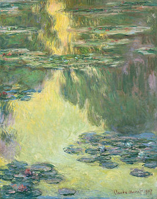 Pond Painting - Waterlilies 1907 by Claude Monet