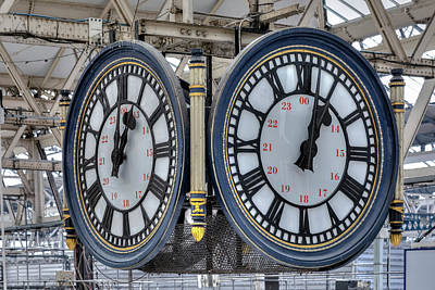 The Clock Photograph - Waterloo Station - London by Joana Kruse
