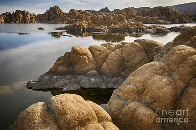 Watson Lake Reflections Photograph - Watson Lake Arizona 13 by Bob Christopher