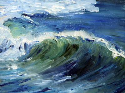 Wave Action Art Print by Michael Helfen