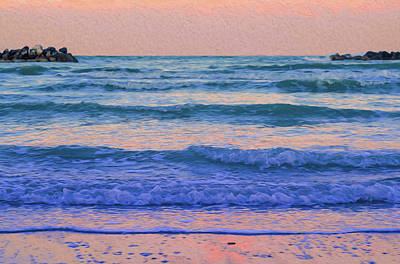 Painting - Wave After Wave by Andrea Mazzocchetti