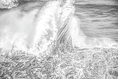 Photograph - Wave Stand Soft  by Bill Posner