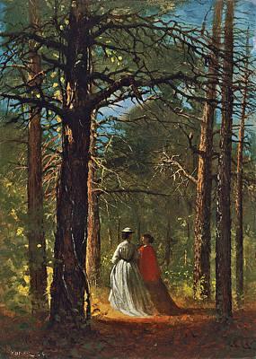 Winslow Homer Painting - Waverly Oaks by Winslow Homer