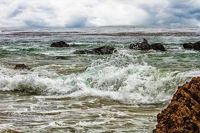 Photograph - Waves And Rocks 4 by Robert Hebert