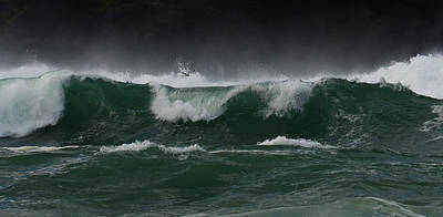 Photograph - Waves At Clogher by Barbara Walsh