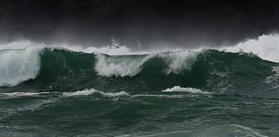 Photograph - Waves At Clogher by Barbara Walsh