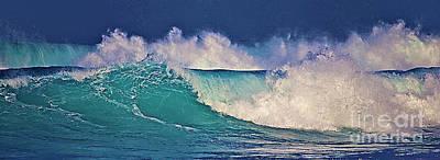 Waves Breaking Art Print