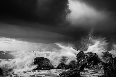 Photograph - Waves Crashing At Hope Gap by Will Gudgeon