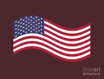 Waving United States Flag Original by Frederick Holiday