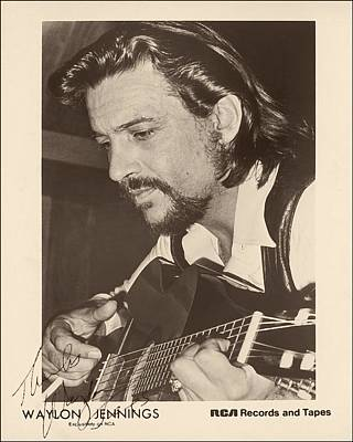 Autographed Photograph - Waylon Jennings 1971 Signed by Mountain Dreams