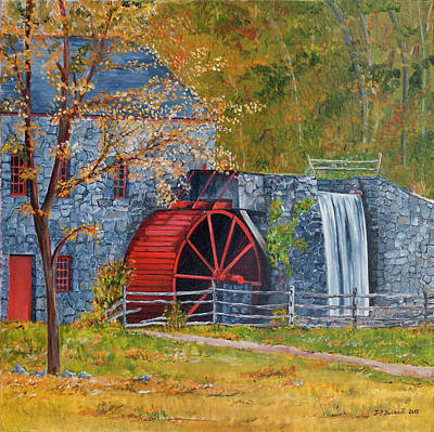Painting - Wayside Inn Grist Mill by Jean-Pierre Ducondi