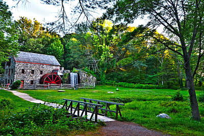 Sudbury Ma Photograph - Wayside Inn Grist Mill by Toby McGuire