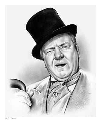 Writer Drawing - Wc Fields by Greg Joens