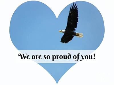 We Are So Proud Of You Eagle Soaring  Original by Robin Lee Mccarthy Photography