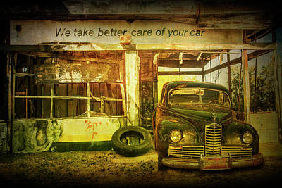 Photograph - We Take Better Care Of Your Car by Randall Nyhof