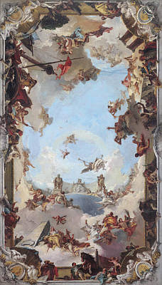 Painting - Wealth And Benefits Of The Spanish Monarchy  by Giovanni Battista Tiepolo