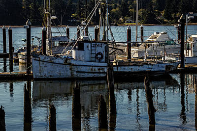 Weathered Fishing Boat Art Print by Garry Gay
