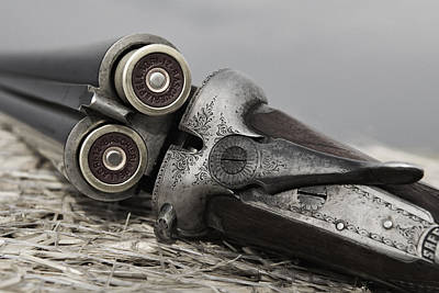 Photograph - Webley And Scott 12 Gauge - D002721a by Daniel Dempster