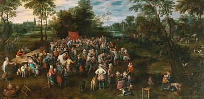 Dance Painting - Wedding Banquet by Jan Brueghel the Elder