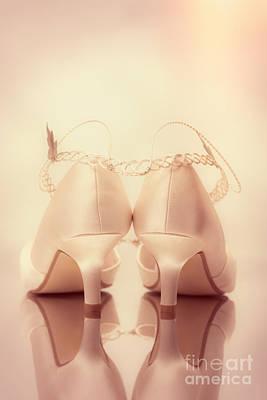 Wedding Sandals Art Print by Amanda Elwell