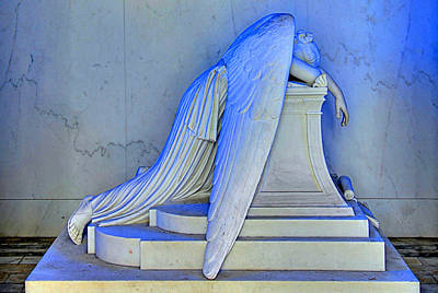 Grave Photograph - Weeping Angel by Ellis C Baldwin