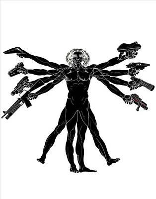 Graphic Digital Art - Weird by Super Lovely
