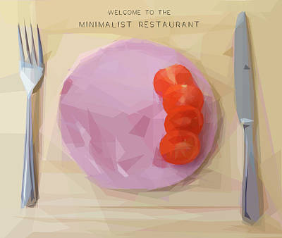 Digital Art - Welcome To The Minimalist Restaurant by ISAW Gallery