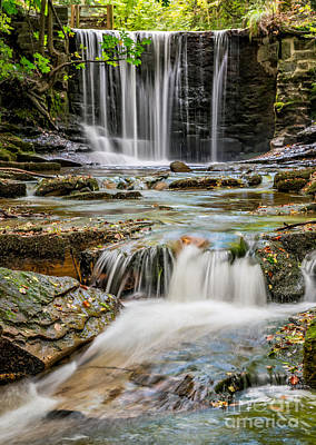 Mill Valley Photograph - Welsh Waterfall by Adrian Evans