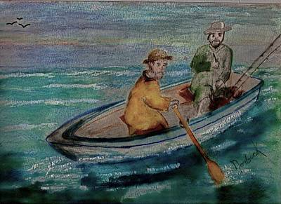 Painting - We're Fishing by Thomas J Norbeck