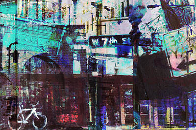 Digital Art - West 7th Street by Susan Stone