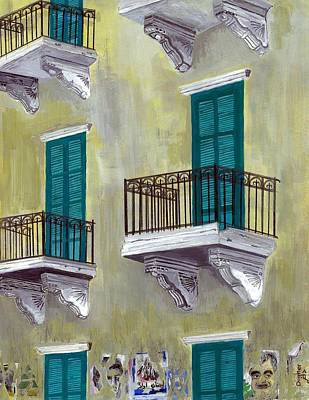 Painting - West Beirut Terraces by Joe Dagher