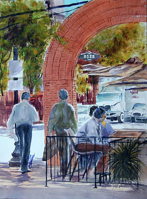 West End Arch At Ross Art Print by Ron Stephens