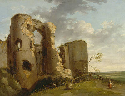 Painting - West Gate Of Pevensey Castle, Sussex by John Hamilton Mortimer