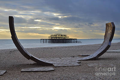West Pier Brighton Art Print by Nichola Denny