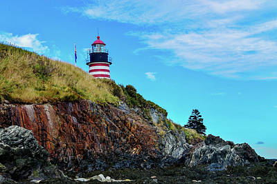 Photograph - West Quoddy Head Lighthouse - Maine by Marilyn Burton