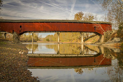 Music Royalty-Free and Rights-Managed Images - West Union covered bridge by Jack R Perry