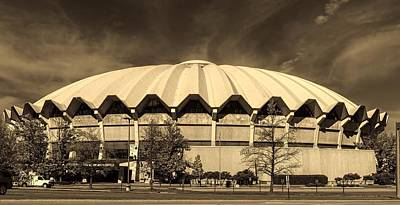 West Virginia University Photograph - West Virginia University Coliseum by L O C