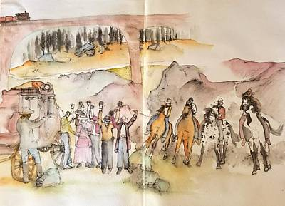 Painting - Western Art My Way.album  by Debbi Saccomanno Chan