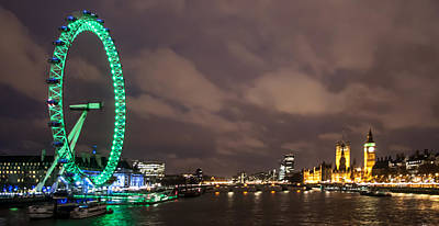 London Eye Wall Art - Photograph - Westminster And The London Eye by Dawn OConnor