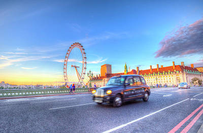 Westminster Bridge And The London Eye Art Print