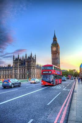 Basketball Patents - Westminster Bridge Early Evening by David Pyatt