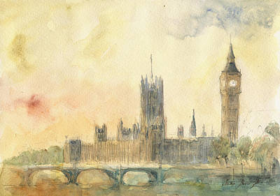 Westminster Palace And Big Ben London Original