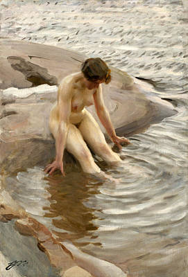 Anders Zorn Painting - Wet by Anders Zorn