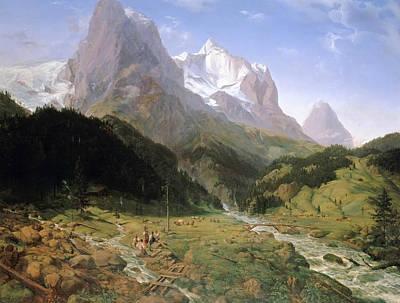Painting - Wetterhorn by Ernst Ferdinand Oehme