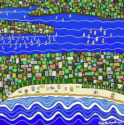 Painting - Whale Beach To Pittwater  by Elizabeth Langreiter