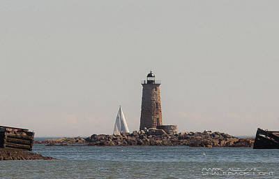 Photograph - Whaleback Light by Mark Alesse