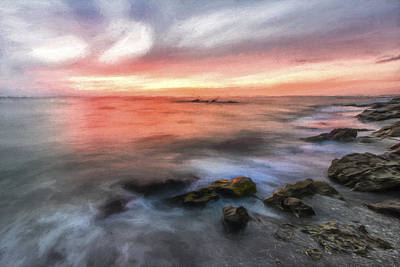 Shore Digital Art - What Ends The Day by Jon Glaser
