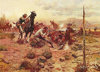 Open Range Painting - When Horseflesh Comes High by Pg Reproductions