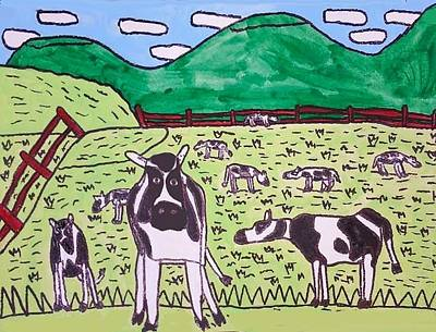Wall Art - Painting - When The Cows Come Home by Brandon Drucker