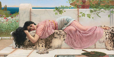 When The Heart Is Young Art Print by John William Godward